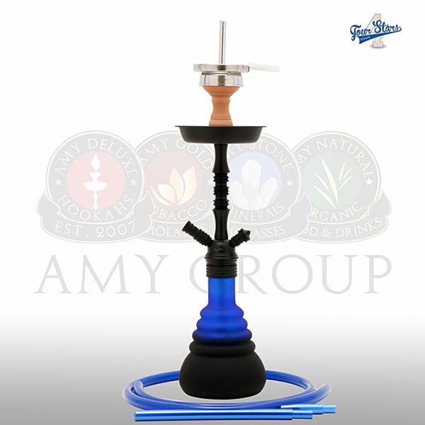 Vodní dýmka 4-Stars 420 45 cm blue - RS black powder