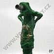 Hadice pro vodní dýmky Lizard velká 205cm zelená