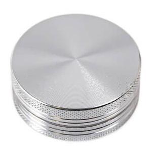 Drtička hliníková CNC 5 cm stříbrná 2-díly