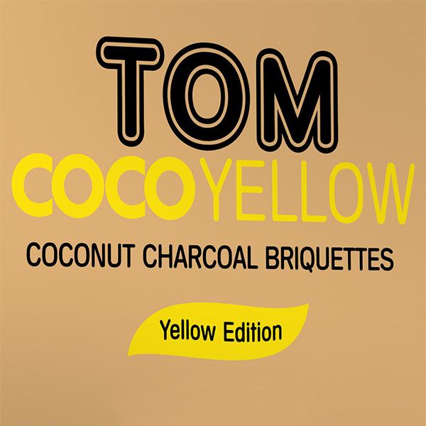 Uhlíky do vodní dýmky Tom Coco 1 kg Yellow ECO