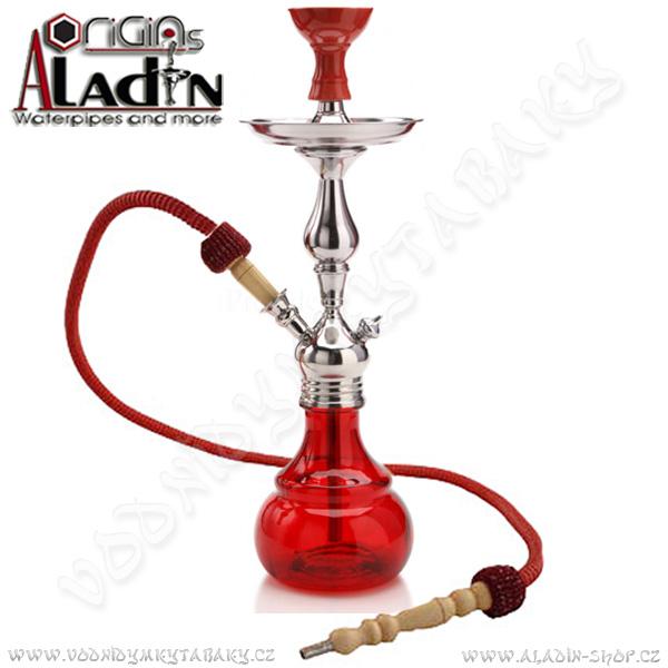 Vodní dýmka Aladin Barcelona II 52 cm červená