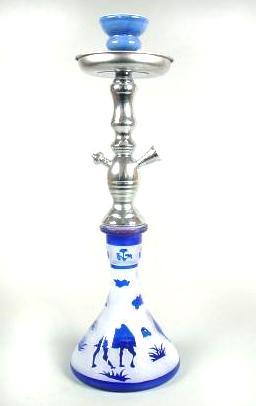 Vodní dýmka Camel 47 cm modrá