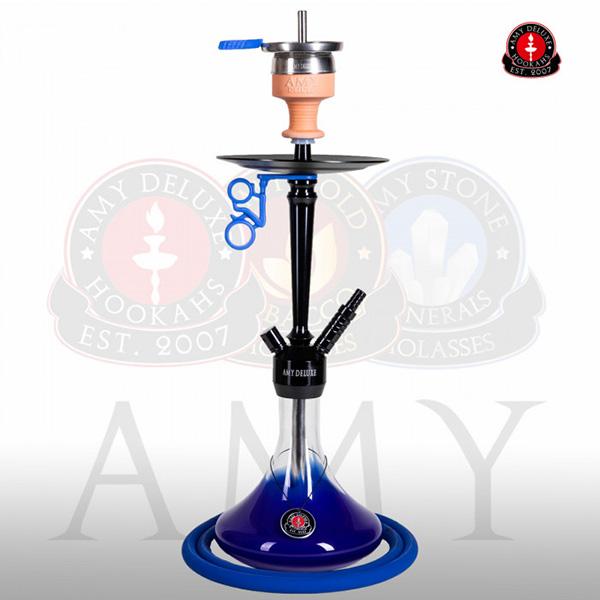 Vodní dýmka Amy Alu Deluxe S 066-02 black blue