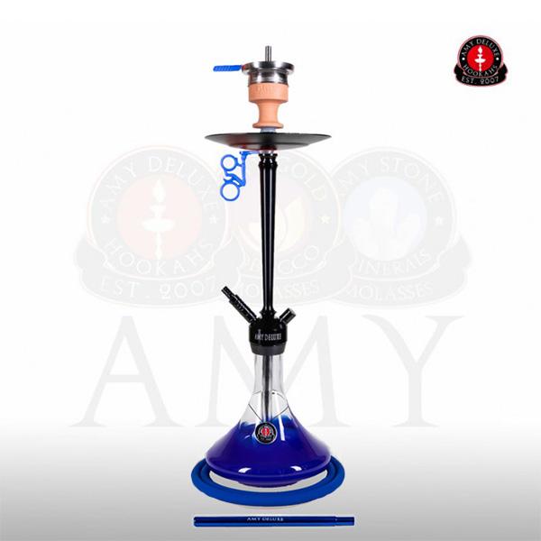 Vodní dýmka AMY Alu Deluxe 066-01 black - blue