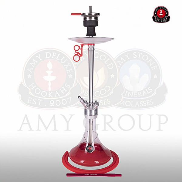 Vodní dýmka AMY Alu Deluxe 066-01 alu red