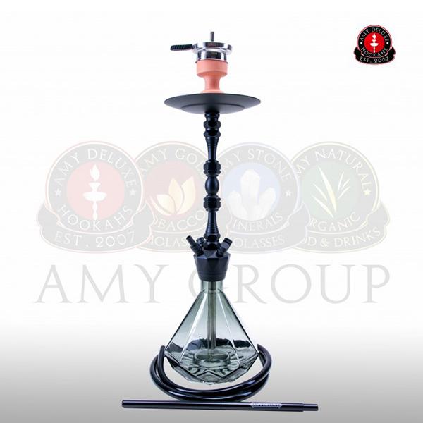 Vodní dýmka AMY Alu Diamond 063 - black powder black