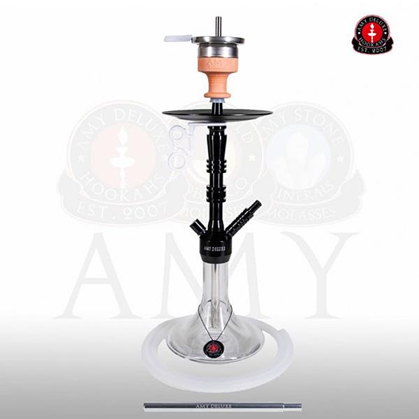Vodní dýmka Amy Alu Lima S 069-02 black clear
