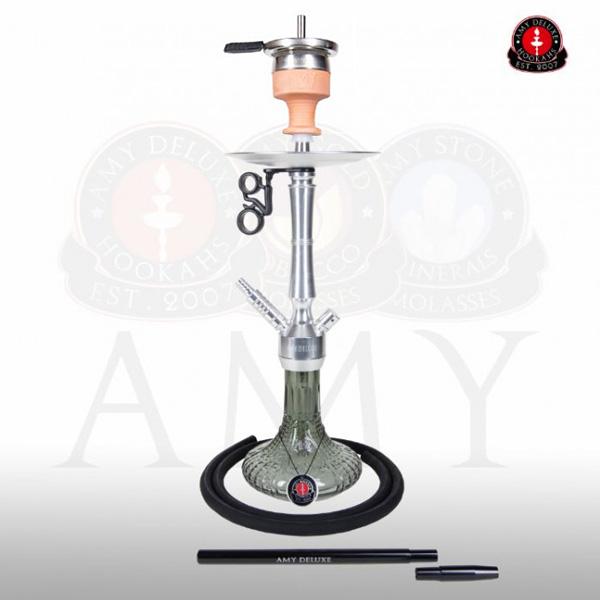 Vodní dýmka AMY Alu Luna S 068-02 - alu black
