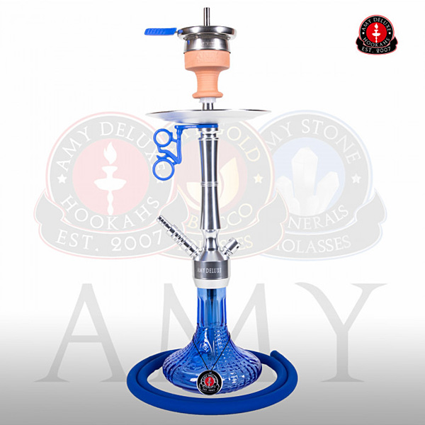 Vodní dýmka AMY Alu Luna S 068-02 - alu blue