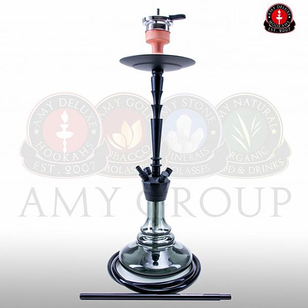 Vodní dýmka AMY Alu-X 065 80 cm black powder black