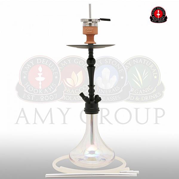 Vodní dýmka Amy Deluxe Globe R clear RS black powder