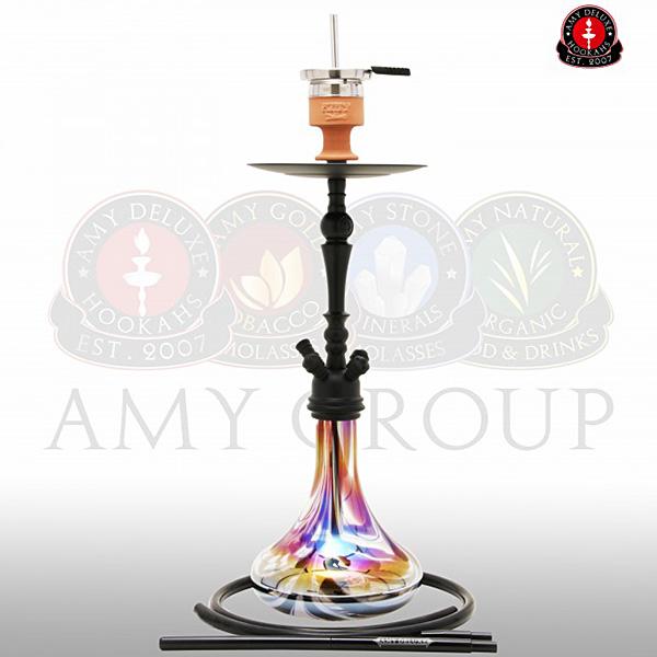 Vodní dýmka Amy Deluxe Globe R black - RS black powder