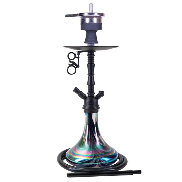 Vodní dýmka Amy Middle Zoom Rainbow black RS black powder