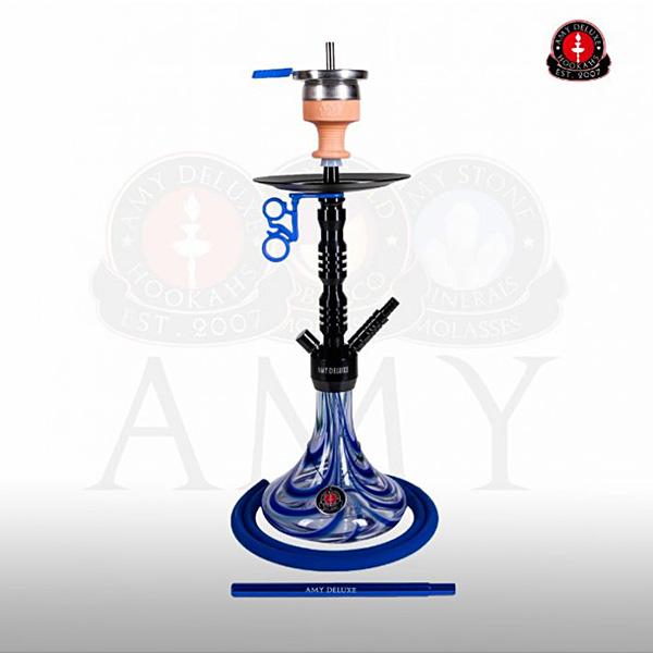 Vodní dýmka AMY Alu Sierra S 073-02 - black blue