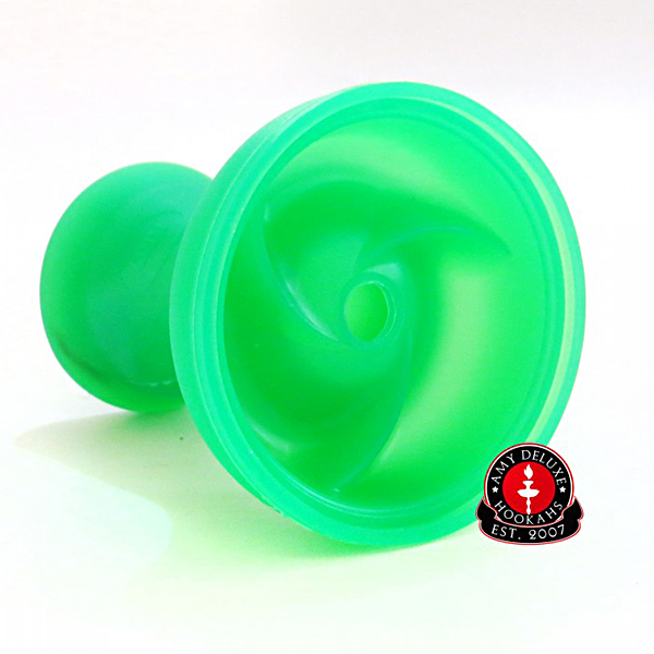 Korunka pro vodní dýmky Amy silikonová Hot Cut III zelená