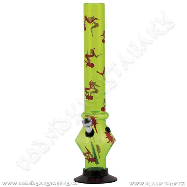 Bong acrylic AT035 zelená žena 32 cm