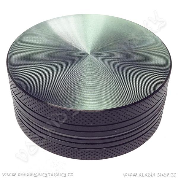 Drtička hliníková CNC 5 cm černá 2-díly