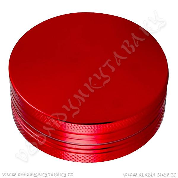 Drtička hliníková CNC 5 cm červená 2-díly