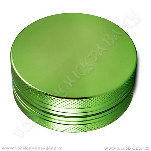 Drtička hliníková CNC 5 cm zelená 2-díly