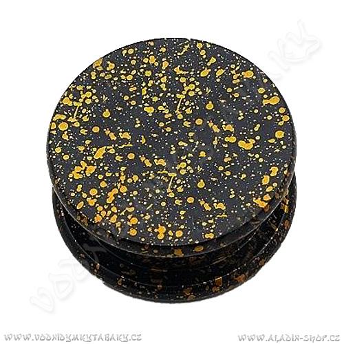 Drtička kovová Mramor oranžová 5 cm