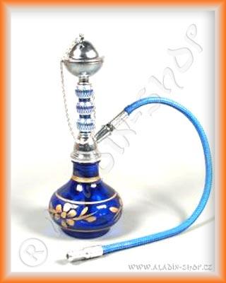 Vodní dýmka mini 20 cm modrá