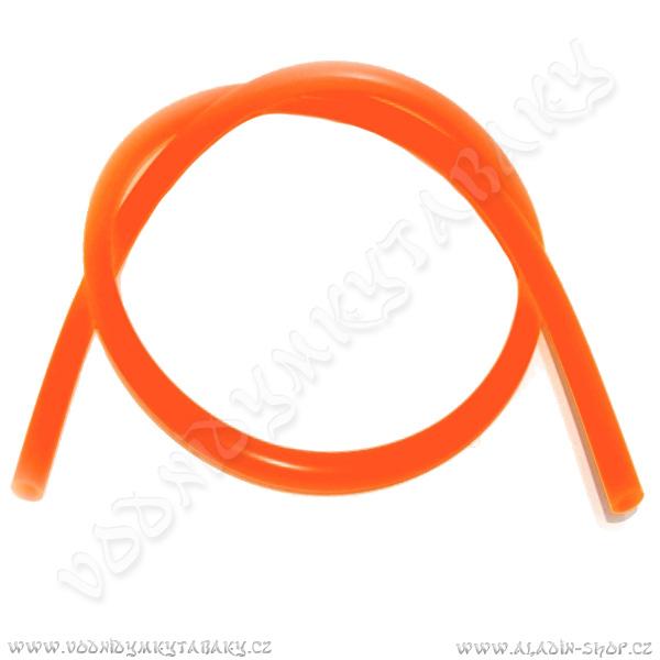Hadice pro vodní dýmky silikonová 150 cm oranžová
