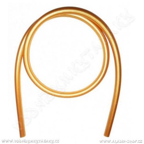 Hadice pro vodní dýmky silikonová 150 cm zlatá