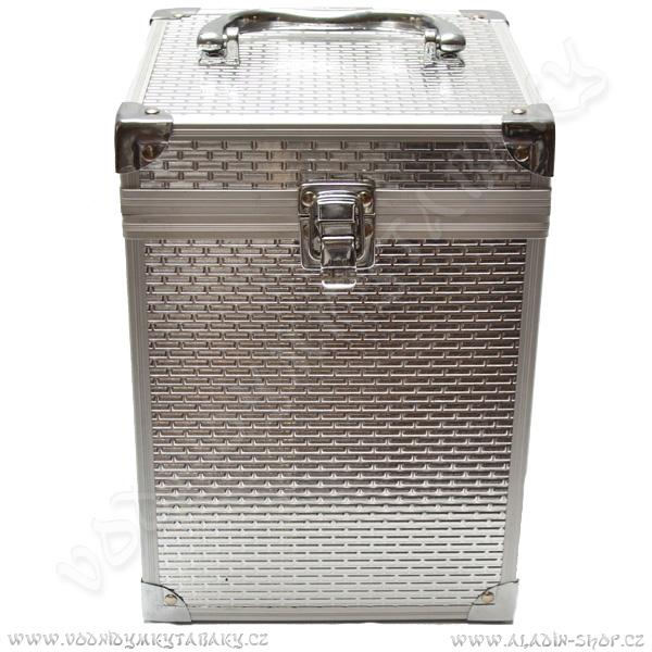 Kufřík pro vodní dýmku King Hookah Espresso stříbrný II