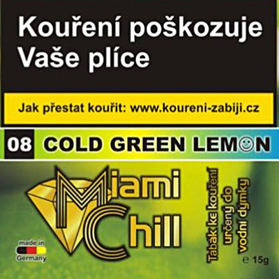 Tabák Miami Chill Cold Green Lemon 15 g