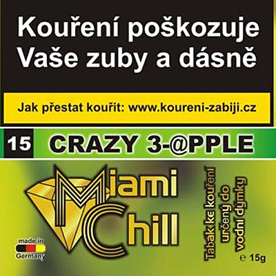 Tabák Miami Chill Crazy 3-apple 15 g