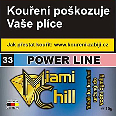 Tabák Miami Chill Power Line 15 g