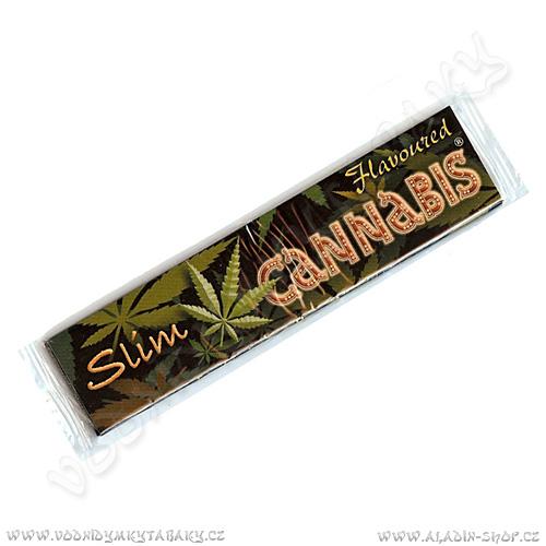 Cigaretové papírky Cannabis Flavoured KS Slim