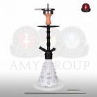 Vodní dýmka 4-Stars 460 45 cm white - RS black powder