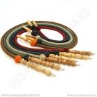 Hadice pro vodní dýmky Aladin Habiba 140 cm hnědá