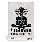 Uhlíky do vodní dýmky Shaman 25 mm 1 kg