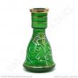 Váza pro vodní dýmky Top Mark 26 cm Heket Painted zelený