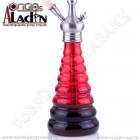 Váza pro vodní dýmky Aladin New York 30 cm červená