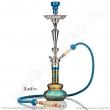 Vodní dýmka Aladin Loop 70 cm tyrkysovo/zlatá