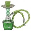 Vodní dýmka mini 17 cm zelená