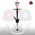 Vodní dýmka Amy Alu Deluxe S 066-02 black clear