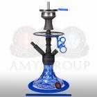 Vodní dýmka Amy Alu Brilli S 107.03 black powder blue