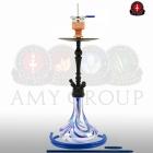 Vodní dýmka Amy Deluxe Globe R blue - RS black powder