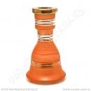 Váza pro vodní dýmky Top Mark 19 cm Eset oranžová