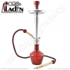 Vodní dýmka Aladin Damaskus 65 cm červená