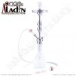 Vodní dýmka Aladin Istanbul 77 cm bílá