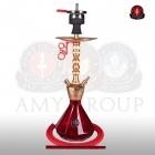 Vodní dýmka AMY Alu Diamond S 062 gold red
