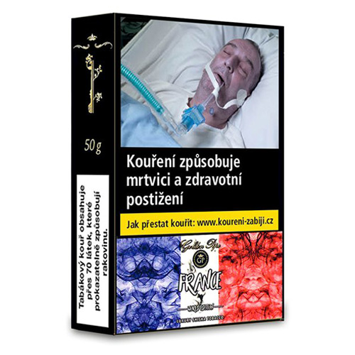 Tabák do vodní dýmky Golden Pipe World Edition France 50 g