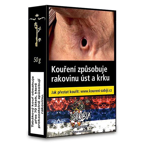 Tabák do vodní dýmky Golden Pipe World Edition Serbia 50 g