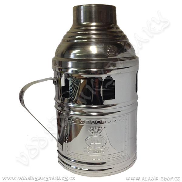 Tarbuš pro vodní dýmky Al Fakher 22 cm stříbrný