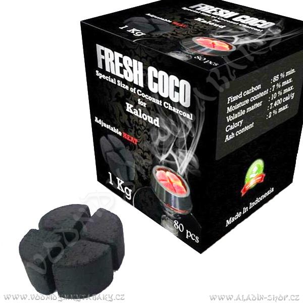 Uhlíky do vodní dýmky Fresh Coco 1 kg